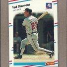 1988 Fleer Baseball Ted Simmons Braves #549