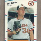 1988 Fleer Baseball Jeff Ballard Orioles #554