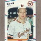 1988 Fleer Baseball Eric Bell Orioles #555