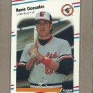 1988 Fleer Baseball Rene Gonzales RC Orioles #560