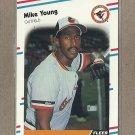 1988 Fleer Baseball Mike Young Orioles #575