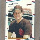 1988 Fleer Baseball Greg Booker Padres #577