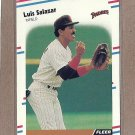 1988 Fleer Baseball Luis Salazar Padres #595