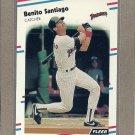 1988 Fleer Baseball Benito Santiago Padres #596