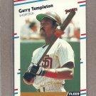 1988 Fleer Baseball Garry Templeton Padres #598