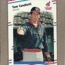 1988 Fleer Baseball Tom Candiotti Indians #604