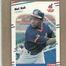 1988 Fleer Baseball Mel Hall Indians #610