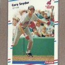 1988 Fleer Baseball Cory Snyder Indians #615
