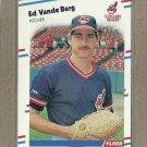 1988 Fleer Baseball Ed Vande Berg Indians #619