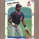 1988 Fleer Baseball Eddie Williams Indians #620