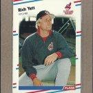 1988 Fleer Baseball Rich Yett Indians #621