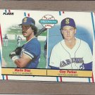 1988 Fleer Baseball Rookies Diaz & Parker #649