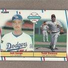 1988 Fleer Baseball Rookies Savage & Simmons #650