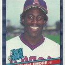 1986 Donruss Baseball Mark McLemore RC Angels #35
