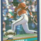 1986 Donruss Baseball David Green Giants #114