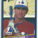 1986 Donruss Baseball Jim Wohlford Expos #157