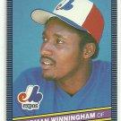 1986 Donruss Baseball Herman Winningham Expos #279