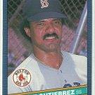 1986 Donruss Baseball Jackie Gutierrez Red Sox #335
