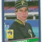 1986 Donruss Baseball Pat Clements Pirates #600