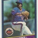 1986 Donruss Baseball Sid Fernandez Mets #625