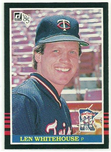 1985 Donruss Baseball Len Whitehouse Twins #513