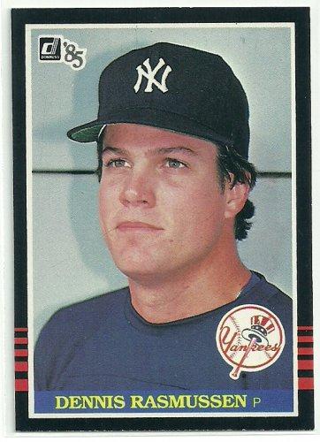 1985 Donruss Baseball Dennis Rasmussen Yankees #518