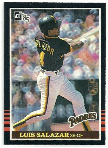 1985 Donruss Baseball Luis Salazar Padres #568