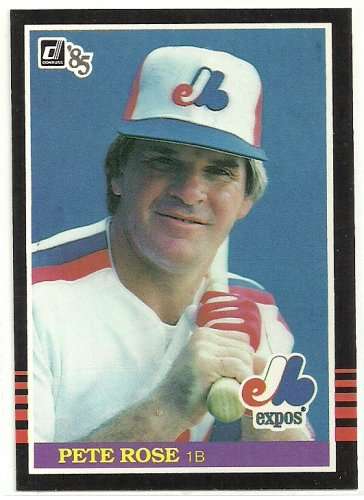 1985 Donruss Baseball Pete Rose Expos #254