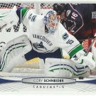 2011 Upper Deck Hockey Cory Schneider Canucks #18