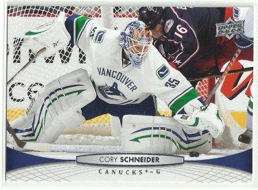2011 Upper Deck Hockey Cory Schneider Canucks #18