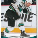2011 Upper Deck Hockey Ryane Clowe Sharks #45