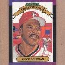 1989 Donruss Baseball DK Vince Coleman #19