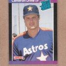 1989 Donruss Baseball Cameron Drew Astros #30