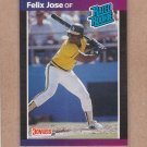 1989 Donruss Baseball Felix Jose RC A's #38