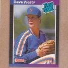 1989 Donruss Baseball Dave West RC Mets #41