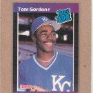 1989 Donruss Baseball Tom Gordon RC Royals #45
