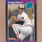 1989 Donruss Baseball Gregg Olson RC Orioles #46