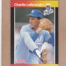 1989 Donruss Baseball Charlie Leibrandt Royals #89