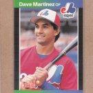 1989 Donruss Baseball Dave Martinez Expos #102