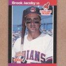 1989 Donruss Baseball Brook Jacoby Indians #114