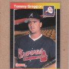 1989 Donruss Baseball Tommy Gregg Braves #121
