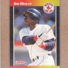 1989 Donruss Baseball Jim Rice Red Sox #122