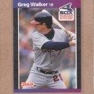 1989 Donruss Baseball Greg Walker White Sox #135