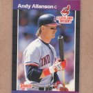 1989 Donruss Baseball Andy Allanson Indians #138