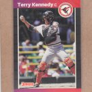 1989 Donruss Baseball Terry Kennedy Orioles #141