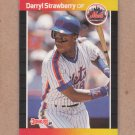 1989 Donruss Baseball Darryl Strawberry Mets #147