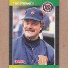 1989 Donruss Baseball Ted Power Tigers #153