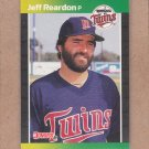 1989 Donruss Baseball Jeff Reardon Twins #155