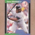 1989 Donruss Baseball Dave Winfield Yankees #159