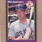 1989 Donruss Baseball Rich Gedman Red Sox #162